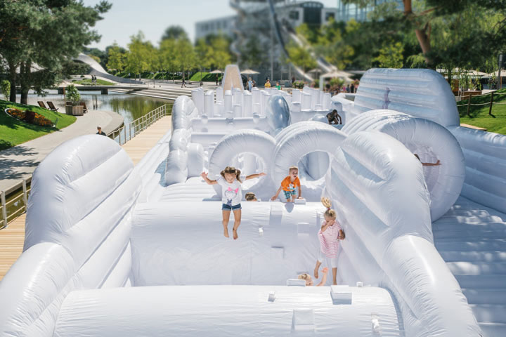 The Inflatable Playground is Europe's largest mobile inflatable playground (Photo: Anja Weber)